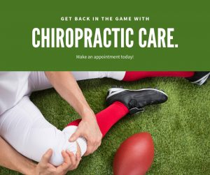 back in the game with chiropractic care