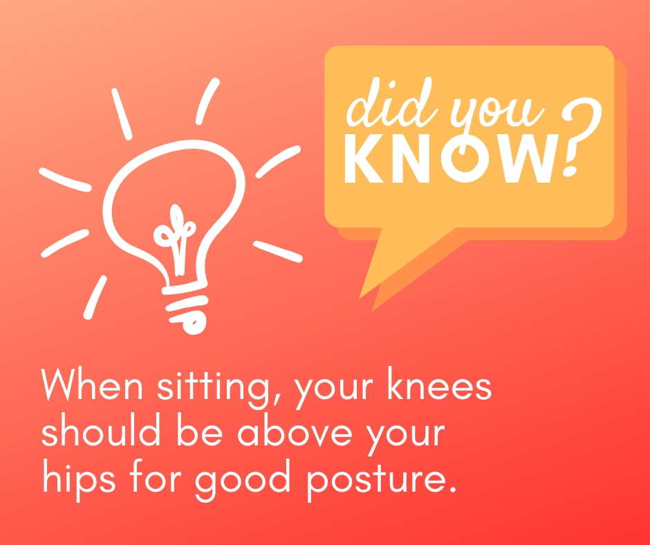 did you know sitting posture