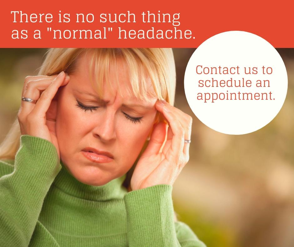No such thing as a normal headache