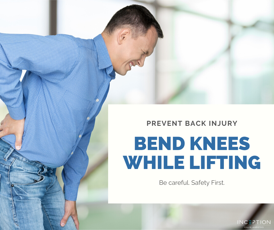 Bend Knees While Lifting