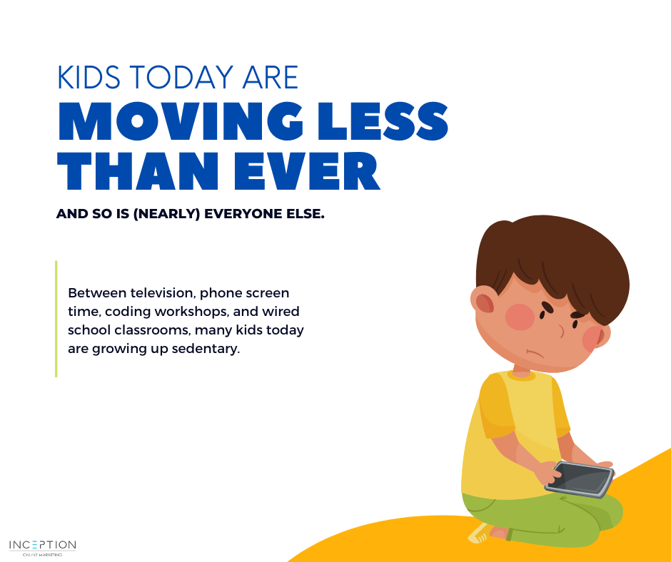 Kids Moving Less