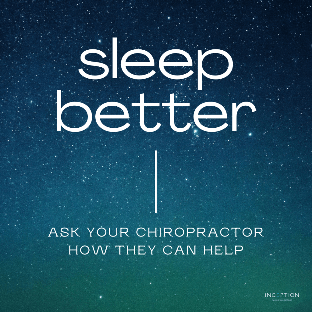 Sleep Better With Chiropractor Care